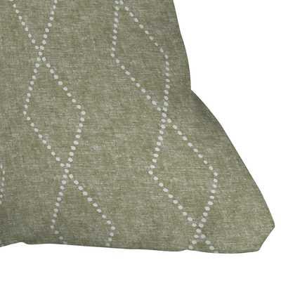"Geo Boho Diamonds Olive by Little Arrow Design Co - Outdoor Throw Pillow 16"" x 16"" - Wander Print Co."