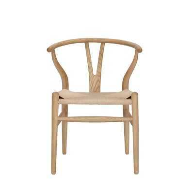 Gunnur Solid Wood Wishbone Stacking Side Chair - Wayfair