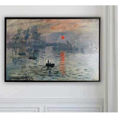 'Impression Sunrise' by Claude Monet Print - Wayfair