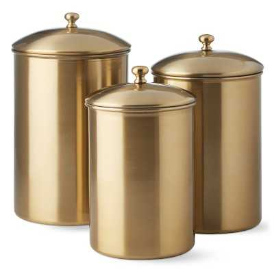 Gold Canisters, Set of 3 - Williams Sonoma