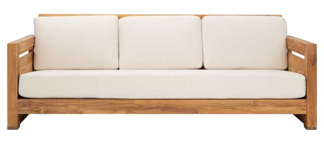 Guadeloupe Outdoor 3-Seat Sofa - Natural/White - Arlo Home - Arlo Home