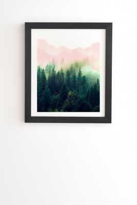 "Mountain Landscape Painting 01 by Marta Barragan Camarasa - Framed Wall Art Basic Black 20"" x 20"" - Wander Print Co."
