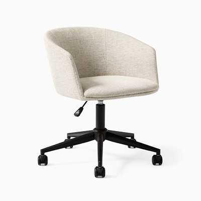 Decon Swivel Office Chair, Stone Twill, Black - West Elm