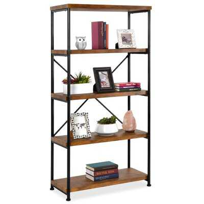 "Unyay 62.75"" H x 31.5"" W Steel Etagere Bookcase - Wayfair"