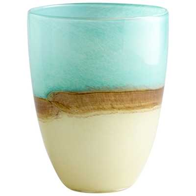 Medium Turquoise Earth Vase - Onyx Rowe