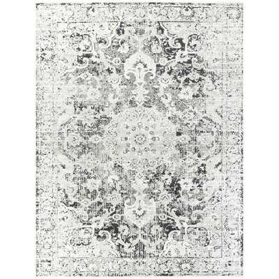 Ventanna Dark Grey Distressed Oriental Area Rug - Wayfair