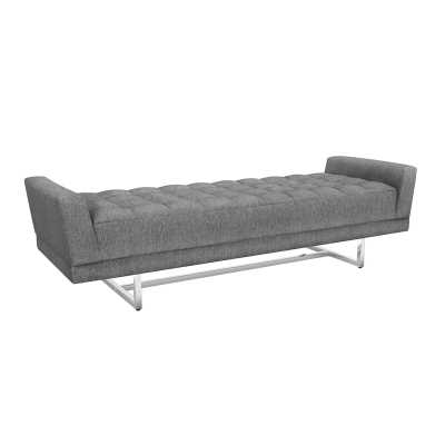 Interlude Luca King Upholstered Bench Color: Night - Perigold