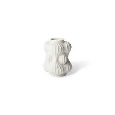 "Jonathan Adler White Porcelain Table Vase Size: 7"" H x 5"" W x 5"" D - Perigold"