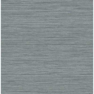 Scott Living Barnaby Slate Faux Grasscloth Strippable Wallpaper Covers 56.4 sq. ft., Grey - Home Depot
