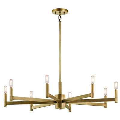 KICHLER Erzo 8-Light Natural Brass Chandelier - Home Depot