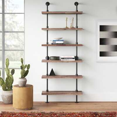 Carl Iron Pipe Wall Mount Ladder Bookcase - AllModern