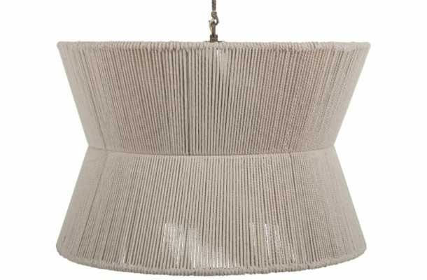Gabby Gregory 8 - Light Shaded Geometric Chandelier with Rope Accents - Perigold