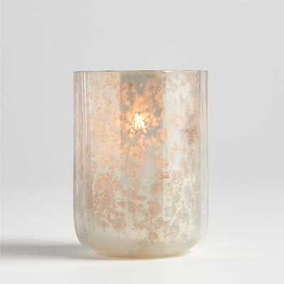 Cumulus White Mercury Glass Tealight Candle Holder - Crate and Barrel