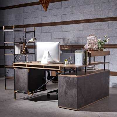 Workstation L-Shape Desk - Wayfair