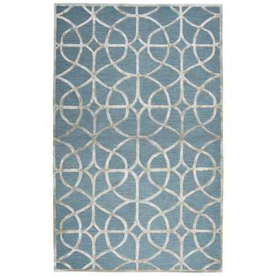RIZTEX, USA Madison Blue/Gray 8 ft. x 10 ft. Geometric Area Rug - Home Depot