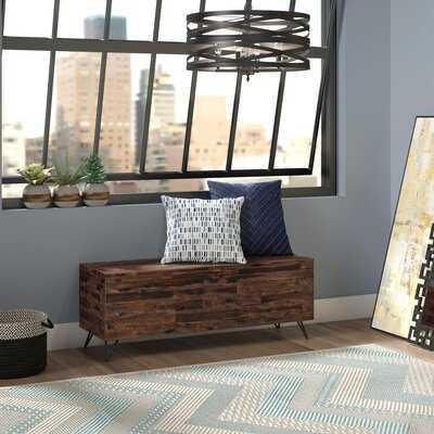 Sherry Wood Flip Top Storage Bench - Wayfair