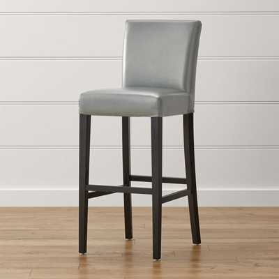 Lowe Pewter Leather Bar Stool - Crate and Barrel