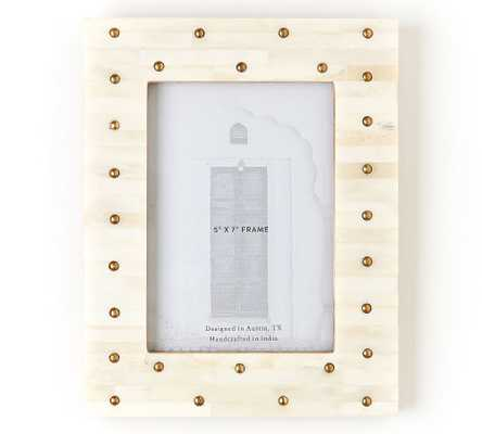 "Wasma Bone And Brass Frame, 5"" X 7"" - Pottery Barn"