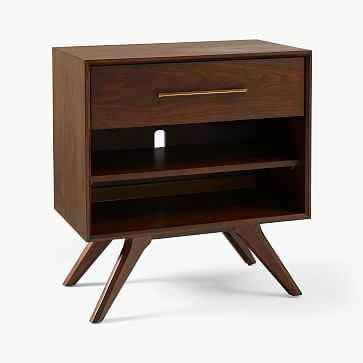Wright Storage Grand Nightstand, Dark Walnut, Set of 2 - West Elm