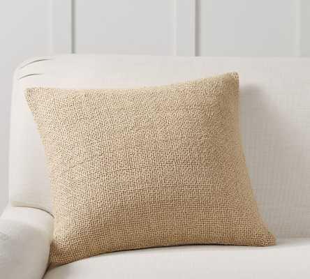 "Faye Textured Linen Pillow Cover, 20 x 20"", Camel - Pottery Barn"