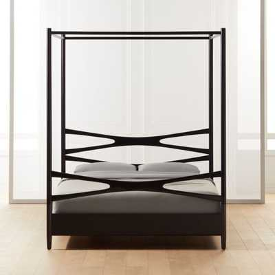 Oslo King Black Canopy Bed - CB2