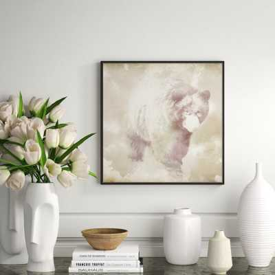 """JBass Grand Gallery Collection 'Bear' Framed Graphic Art Print on Canvas Size: 21.75"""" H x 21.75"""" W x 1.5"""" D - Perigold"""