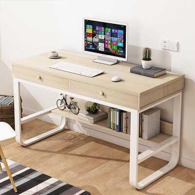 Multi-Layer Storage Frame Computer Desk Laptop Office Desk Pullout Keyboard Tray - Wayfair