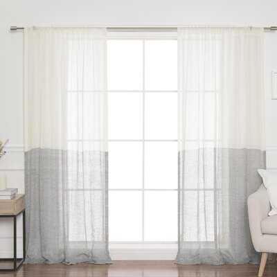 Renfro Linen Room Darkening Rod Pocket Single Curtain Panel - AllModern