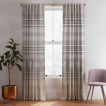 "Echo Curtain, Set of 2, Stone White, 48""x84"" - West Elm"