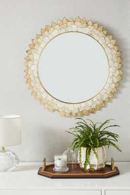 Penny Ombre Capiz Mirror - Anthropologie
