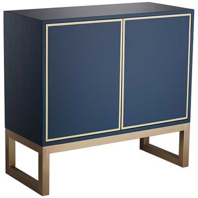 """Tarim 35 3/4"""" Wide Blue and Gold 2-Door Accent Cabinet - Style # 79H97 - Lamps Plus"""