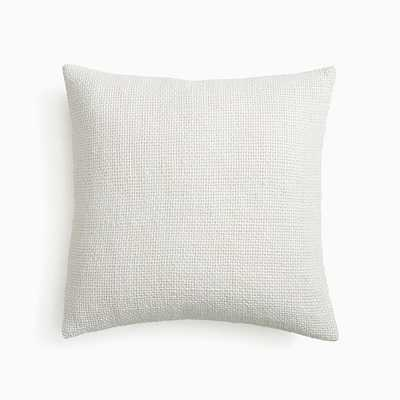 """Two Tone Chunky Linen Pillow Cover, 20""""x20"""", White, Set of 2 - West Elm"""