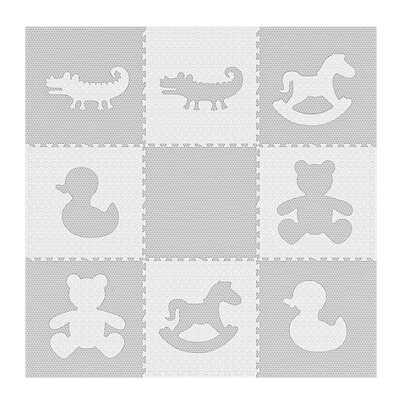 Puzzle Exercise Baby Interlocking Foam Playmat - Birch Lane