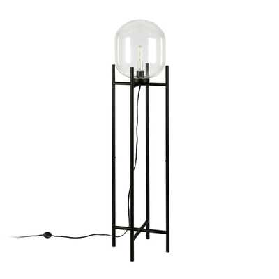 Hudson&Canal Edison Blackened Bronze Floor Lamp - Home Depot