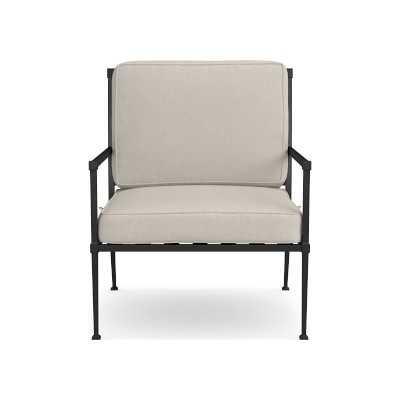 Bridgehampton Club Chair Outdoor Cushions, Perennials Performance Basketweave, Light Sand - Williams Sonoma