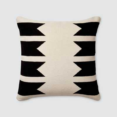 Urbano Pillows - Black - 22 in. x 22 in. By The Citizenry - The Citizenry