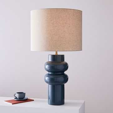 Modern Totem Table Lamp, Large, Petrol Blue, Individual - West Elm