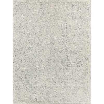 Caprice Geometric Hand Tufted Cotton/Wool Gray Area Rug - Wayfair