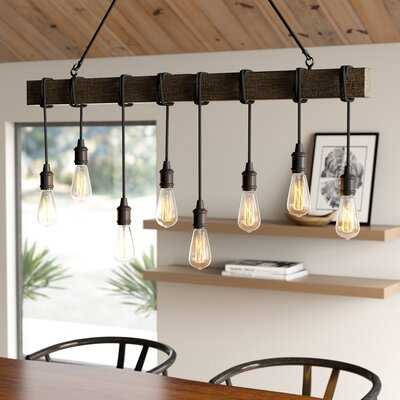 Brodie 8 - Light Kitchen Island Bulb Pendant with Nylon Accents - AllModern