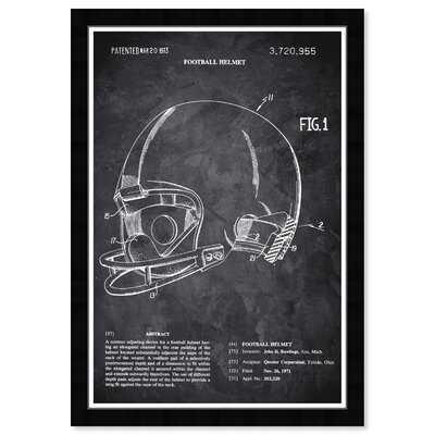 Football Helmet 1973 Chalkboard - Picture Frame Graphic Art Print on Paper - Wayfair