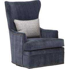 Beck Swivel Chair, Emory Navy - High Fashion Home