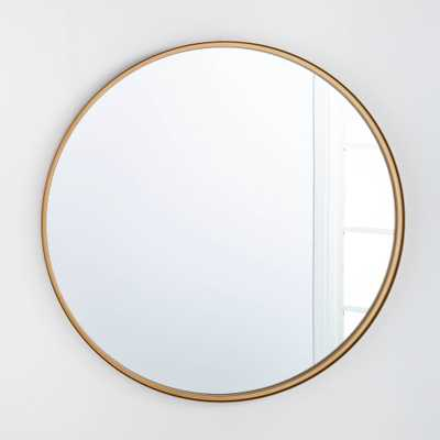 "34"" Round Decorative Wall Mirror Brass - Threshold designed with Studio McGee - Target"