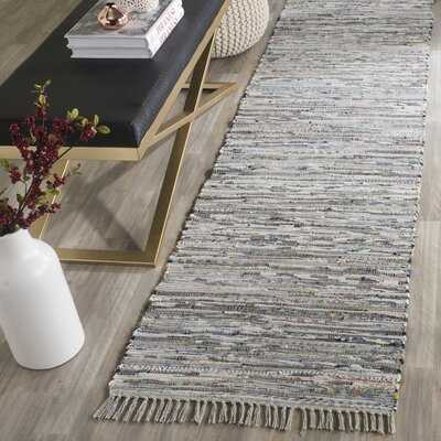 Nerys Abstract Hand-Knotted Cotton Gray Area Rug - Wayfair