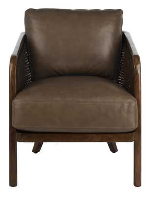 Caruso Barrel Back Chair - Dark Brown - Arlo Home - Arlo Home