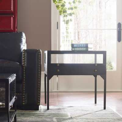 "Shadow Box 24"" Wide Matte Black 1-Drawer End Table - Style # 89A18 - Lamps Plus"