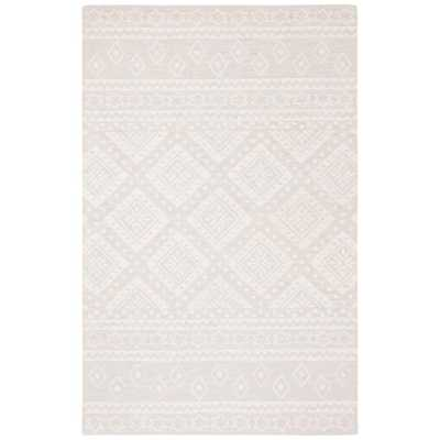 Safavieh Micro-Loop Gray/Ivory 5 ft. x 8 ft. Area Rug - Home Depot