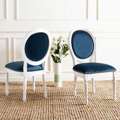 Falgoust Velvet Upholstered King Louis Back Side Chair - Birch Lane