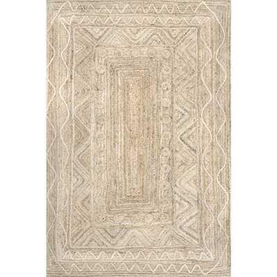 nuLOOM Jendalyn Tribal Textured Jute Neutral 4 ft. x 6 ft. Area Rug - Home Depot