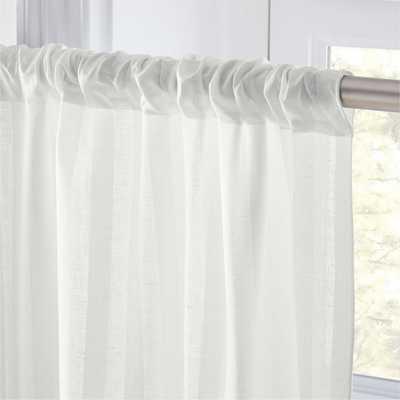 "Track White Striped Curtain Panel 48""x108"" - CB2"