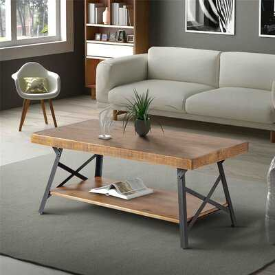 Rectangle Coffee Table With Storage - Wayfair